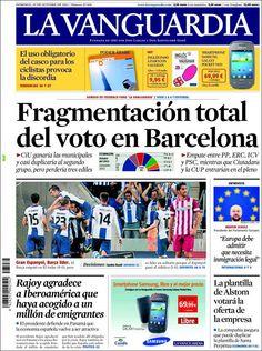 Los Titulares y Portadas de Noticias Destacadas Españolas del 20 de Octubre de 2013 del Diario La Vanguardia ¿Que le pareció esta Portada de este Diario Español?