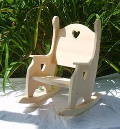 Child's Rocking Chair Unfinished Pine by CountryArtisanGifts Plans Rocking Chair, Wooden Rocking Chairs, Kids Rocking Chairs, Baby Furniture, Painted Furniture, Modern Furniture, Furniture Design, Wood Projects, Woodworking Projects