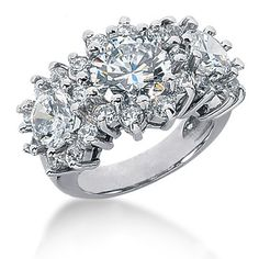 This Gold Round Diamond Ladies Ring features carats of round diamonds diamonds). Women's Jewelry Sets, Women Jewelry, Luxury Jewelry, Custom Jewelry, Designer Jewelry Brands, Quality Diamonds, Jewelry Party, Jewelry Branding, Round Diamonds