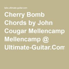 Runaways  Cherry Bomb Chords  GUITAR TABS amp CHORDS  AZ