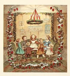 Tasha Tudor; Christmas is more than retelling the Christmas story although it is the reason for the season, it is a time of joy and fun and fellowship. In the movie Scrooge he remembers a Christmas past with his girlfriend's family and friends playing a group word game-such fun!