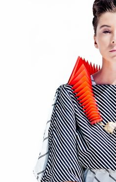 Mulika Nir graduate Shenkar College of Engineering and Design / stripes and lines / - March 23 2019 at Geometric Fashion, 3d Fashion, Fashion Designer, Fashion Details, World Of Fashion, Womens Fashion, Cheap Clothes, Clothes For Women, Body Adornment