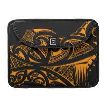 Mixed tattoo styles, Maori, Samoan and Polynesian MacBook Pro Sleeves
