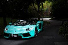 Tiffany Blue Lamborghini Aventador