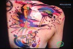 awesome Watercolor tattoo - Abstract tattoo... Check more at http://tattooviral.com/tattoo-designs/watercolor-tattoos/watercolor-tattoo-abstract-tattoo-3/