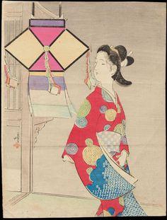 Tsutsui, Toshimine (1863-1934) - Garden Lantern - とうろう