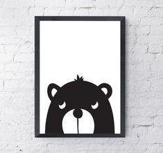 Bear Illustration Children's Print Digital by LittlePrintShopUK