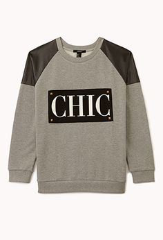 Chic Studded Sweatshirt | FOREVER 21 - 2077044011