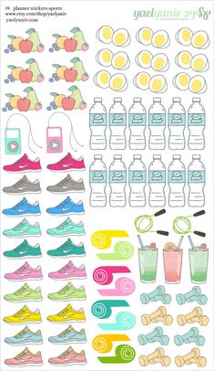 70 sport healthy life Planner Stickers, Perfect for Erin Condren, Limelife, Plum Paper, the happy planner or Filofax Planner