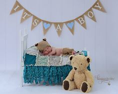 Doll Photography Prop Modern Rag Quilt  Brown by modernragquilts, $45.00