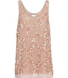 SEQUIN TOP - DUSTY ROSE