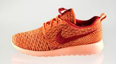 Nike WMNS Flyknit Roshe Run Orange Red Sunset Glow | Sole Collector