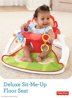 Headed to the beach? The Deluxe Sit-Me-Up Floor Seat provides a supportive, upright seat with soft fabric and a wide, sturdy base that keeps baby comfortable -- and in one place!
