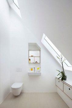 Photos On  Cool And Smart Attic Bathroom Designs ComfyDwelling Home Pinterest Attic bathroom Attic and Bathroom designs