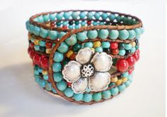 Turquoise Jewelry Southwestern Jewelry 5 Row by RopesofPearls