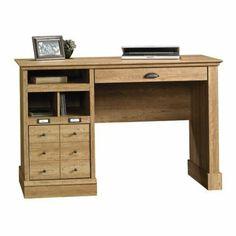 Amazon.com - Sauder Barrister Desk, Carved Oak - Bookcases