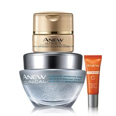 The ANEW Face and Eye Treatment Collection is perfect for your skincare routine! A $68 value, for $35 don't miss the awesome Anew Ultimate eye and face bundle sale at midnight Friday. Shop Avon online with me at www.youravon.com/my1724 and get the skin care every one knows and love.. #AVON #ANEW #SKINCARE #SALE #ULTIMATE #SAMPLE #MASK