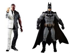 Brinquedo Mattel Batman Legacy Arkham City Batman and Two-Face Collector Figure 2-Pack