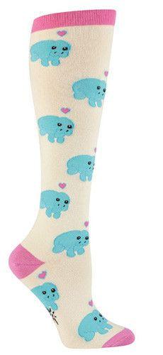 Manatee Crazy Animal Novelty Knee High Socks for Women
