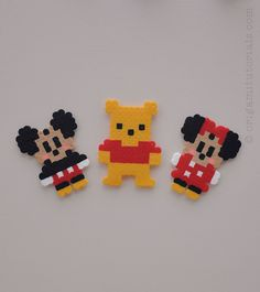 Tip: Papers I usually buy on Ebay or Origami Shop. Japanese books I tend to buy from CDJapan. To make this cute Disney Perler/Hama beads mobile you will need some Disney figures. I used the bigger & smaller Perler bead pattern for Mickey & Minnie Mouse, as well as the Donald & Daisy Duck Perler …