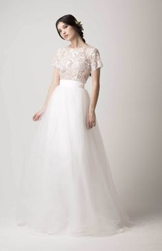 Lace top and tulle skirt