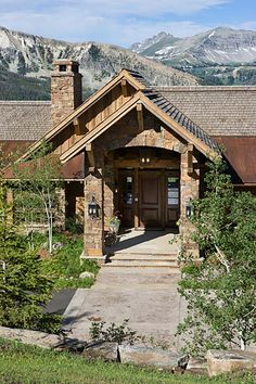 Mountain contemporary home with rustic details in Big Sky