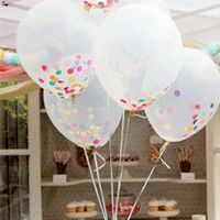 Rellena globos transparentes con confettis grandes :: Fill clear balloons with large confetti Diy Party Dekoration, Sprinkle Party, Festa Party, Party Party, Ideas Party, Prom Ideas, Party Gifts, Party Favours, First Birthdays