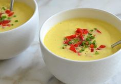 Golden Gazpacho - Once Upon a Chef Best Appetizer Recipes, Best Appetizers, Lunch Recipes, Vegan Recipes, Good Green Bean Recipe, Green Bean Recipes, Dinner Party Starters, Easy Starters, Filling Food