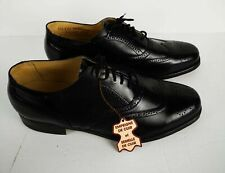 Vintage Retro Wingtip Black Leather Mens Shoes Eaton Birkdale 10.5 EEE Lace Tags #mensfashion $135.00