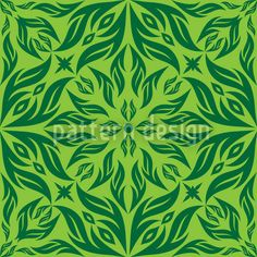Green Blossom Dream by Yasir Ahmed Khan available as a vector file on patterndesigns.com Fresh Green, Vector Pattern, Vector File, Surface Design, Gothic, Patterns, Flowers, Painting, Decor
