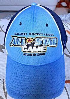 bb36aa149 NHL All-Star Game 2008 Atlanta Blue soft mesh Hat Hockey Brand New Cap RARE