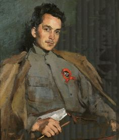 Portrait of Furmanov  by Sergey Malyutin  1922
