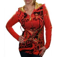 Click on the image for more details! - CRYSTAL ROCK Christian Audigier Mysterious Womens Tunic Hoodie Sweatshirt Shirt (Apparel)