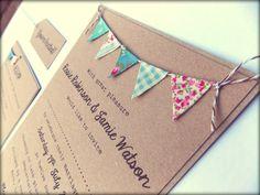 Custom Listing for Laura Read: Rustic Wedding Invitation on Kraft Card, Jute Twine and Tag