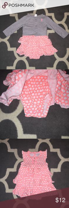 Toddle girl dress and cardigan Toddler girl 18 month dress and cardigan. Brand new without tags. From Carter's. Carter's Dresses Casual