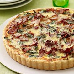Onion, Bacon and Spinach Tart