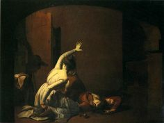 Joseph Wright of Derby. Romeo and Juliet. The Tomb Scene. exhibited 1790 and 1791.