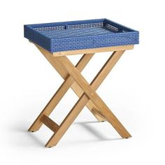 Peralta Woven Side Table | Frontgate Teak Furniture, Furniture Covers, Furniture Stores, Affordable Outdoor Furniture, Square Side Table, Teak Oil, Wicker Tray, Mortise And Tenon, Luxury Home Decor