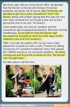 one of the reasons why i want my child to be a whovian