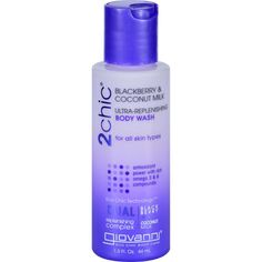 Giovanni Hair Care Products Body Wash - 2chic - Repairing - Ultra-replenishing - Blackberry And Coconut Milk - 1.5 Oz