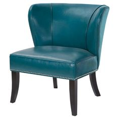 Hilton Concave Back Armless Chair - Peacock Blue