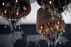 I'm in love with these light fixtures!!! Perfect combo of Rustic and Chic!!!