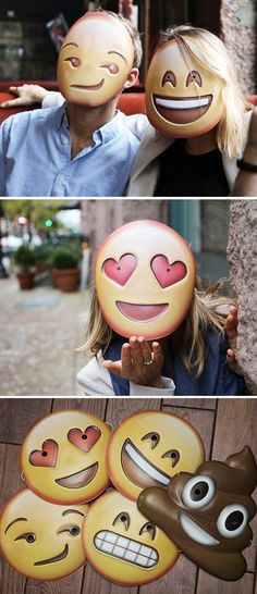 Bring your favorite emoji to life with Emoji Masks. These fun, engaging masks let you wear some of the most popular emoji on your face and make for fun emoji costumes.