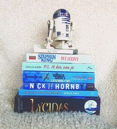 Blue is the colour for Autism Awareness Month! Stacking my favourite blue books is my way of showing support. #autismawarenessmonth