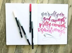 Brush lettering by @lshannondesigns using @tombowusa Dual Brush Pens