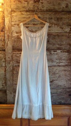 vintage victorian nightgown, slip dress, maxi, cotton, crochet, floral, buttons,
