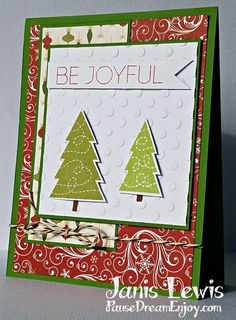 Be Joyful Handmade Christmas Card