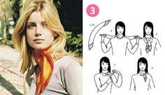 imprimé foulard tendance carre hermes facon portet nouer manire noeud cou cheveux ceinture sac astuces