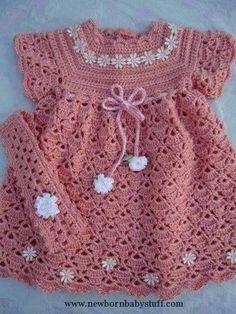 Crochet Baby Dress Crochet Baby Dress FREE pattern in ENGLISH by Sweet Nothings...