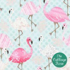 Timeless Treasures - Pink Flamingo - Pink Flamingos on Dots - Aqua - Fabric by the Yard Flamingo Fabric, Aqua Fabric, Flamingo Dress, Flamingo Party, Cotton Fabric, Leaf Animals, Timeless Treasures Fabric, Novelty Fabric, Modes4u